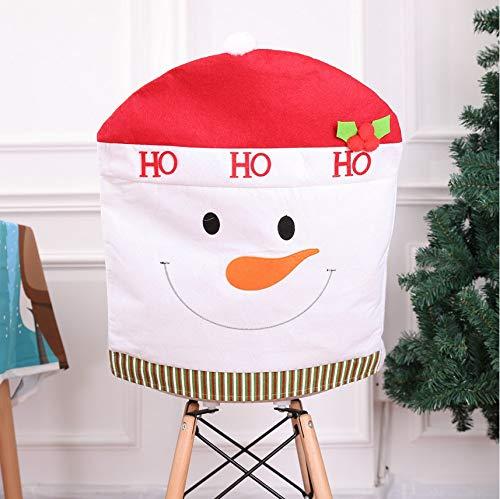 Fyyanm 2 Stücke Weihnachtsmann Stuhl Zurück Covers Schneemann Elch Weihnachten Hüte Dinner Party Weihnachten Stuhlabdeckung Caps Neue Jahr Bankett Dekor 50X60 cm