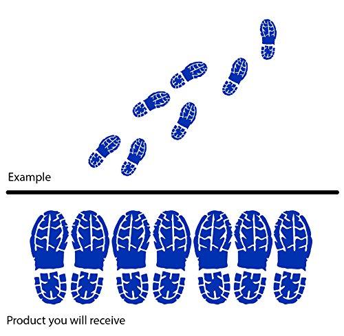 Man Boot Schuh Prints Schritte Fuß (20cm x 60cm) wählen Sie Farbe 18Farben auf Lager Badezimmer, Childs Schlafzimmer, Kinder Zimmer Aufkleber, Auto Vinyl-, Windows und Wandtattoo, Wall Windows Art, Decals, Ornament Vinyl Sticker ThatVinylPlace azurblau (Sichere Schritte Für Schuhe)