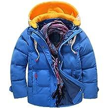 YanHoo Ropa para niños Chaqueta Abrigada a Prueba de Viento Winter Boy Childrens Warm Cotton Kids