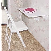 SoBuy Mesa plegable de pared,mueble infantil,mesa para portátil, mesa para comer, escritorio,FWT03-W.ES