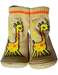 C2BB - Chaussons-chaussettes enfant antidérapants semelle souple   Girafe