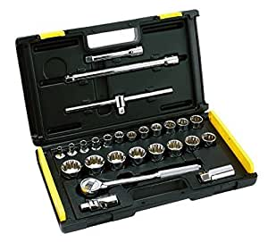 Stanley 86477 26-Piece 1/2 Drive Metric 12 Point Socket Set