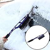 Eiskratzer Rovinci 2 in 1 Multifunktionale Eisschaber Winter Auto Pinsel und Schneebesen Entfernen Schnee Werkzeuge für Auto Truck SUV Windschutzscheibe Gartenhütte (Blau)