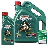 1 L + 5 L = 6 Liter Castrol Magnatec Diesel 5W-40 DPF Motor-Öl inkl. Ölwechsel-Anhänger