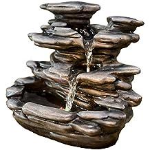 zen' Light Nature Guilin fuente, resina, gris, 25x 19x 29cm)