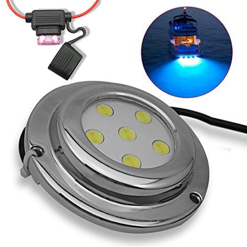A-szcxtop Boot Ablaufstopfen Unterwasser Licht/marine Lampe/Yacht Lampe/drainage Lampe für Boot/Schiff/Yacht mit 6LED Wasserdicht und Antioxidans Licht für Angeln, Schwimmen und Tauchen, blau