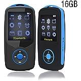 ChenFec - Portátil Mini HiFi Música 16GB Reproductor de MP3Inalámbrico Bluetooth Deporte Running Máximo Soporte 64GB con multifunción libro digital Grabación de Juego