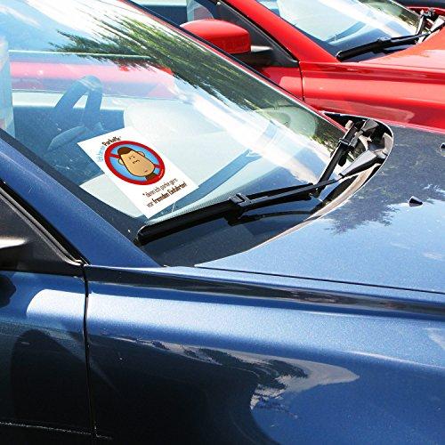 100 Parkaffe Aufkleber – scheiße geparkt in der Einfahrt – Verwarnung für Falschparker - 3