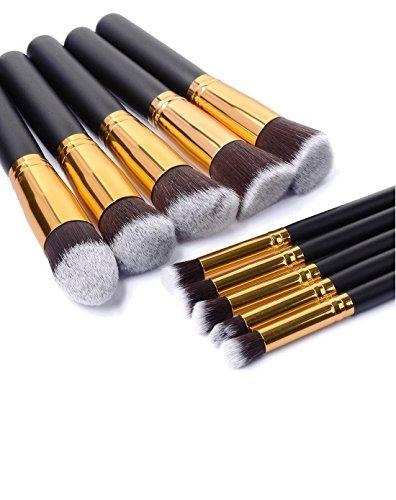 Aosika Premium Lot de brosse de maquillage synthétique Kabuki Cosmetics Fond de teint Mélange Blush Eyeliner Poudre Visage