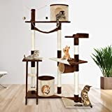 Leopet - Arbre à chat perchoir griffoir - hauteur 150 cm - MDF, sisal et peluche - Best Reviews Guide