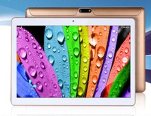 "10.1"" Inch Retina Screen Tablet PC -- 3G Phablet -- Latest Android 5.1 Lollipop -- 1.5GHz Octa-Core CPU -- 1GB RAM -- 16GB Storage -- Dual Camera -- 2560*1600 Resolution -- Bluetooth -- In Built 2x Normal DUAL Sim Card Slot (Gold/ White) - Best Price"