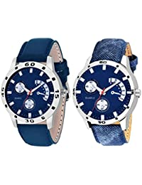 Scarter Combo Of 2 Analog Watch For Boys And Mens- S-205-206