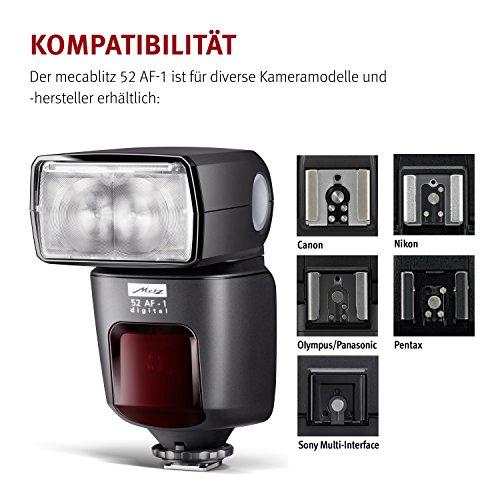 Metz mecablitz 52 AF-1 für Pentax Kameras (DSLR und CSC) | Top Blitzgerät mit P-TTL, Leitzahl 52, HSS (High Speed Sync), Touch-Display etc. - 7