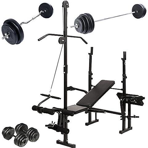 Physionics - HNTLB10 - Banco de pesas multifunción - Varias opciones de entrenamiento