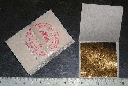 24 K Gold Blatt Basis 100{8f86376f710d133566fbc9a6af372ec58d7c7e20eb8a9e5315135567922c64e9} 20 Blätter 45 mm x 45 mm