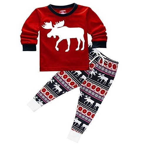 8b3c452b1 Imixcity 2pcs Noël Fawn Deer Vêtements de Famille Père Mère Enfant Garçon  Fille Pyjamas Set de