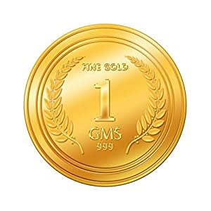 A Himanshu 1 gm, 24k (999) Yellow Gold Precious Coin