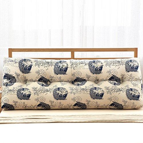Personalità Letto grande cuscino del cotone e del triangolo di tela dell'ammortizzatore doppio Custodia morbida Comodino Letto Con supporto per la schiena rilievo cuscino lombare 2 Cuscino cuscino ( colore : C , dimensioni : 22*50*120cm )