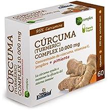 CURCUMA 10.000 MG. (95%) JENGIBRE + PIMIENTA + C. 60 CAPSULAS