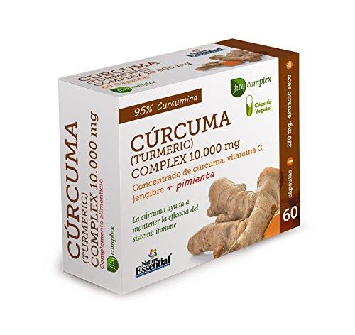CURCUMA 10.000 MG. (95%) JENGIBRE + PIMIENTA + C. 60 CAPSULAS VEGETALES - Nature Essential