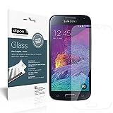 Ecultor dipos I 2X Panzerfolie klar passend für Samsung Galaxy S4 Mini Schutzfolie 9H Displayschutz-Folie