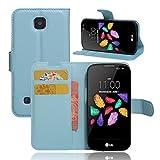 LG K3 4G Hülle, Wrcibo Flip Cover Tasche Leder