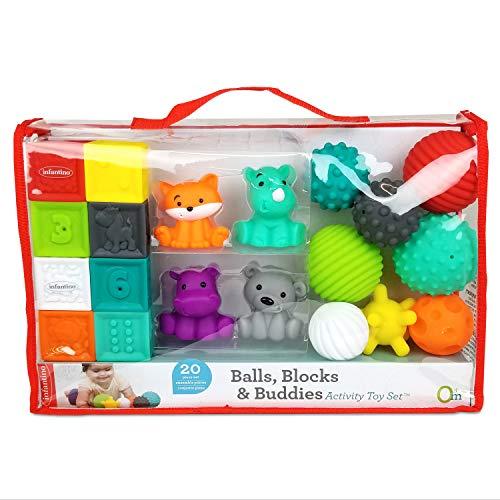 Infantino Sensory Bauklötze Tiere, Spielzeug,