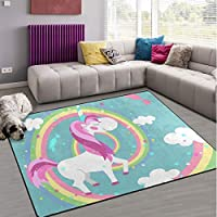 Naanle Galaxy Universe Space Non Slip Area Rug for Living Dinning Room Bedroom Kitchen, 120 x 160 cm(4