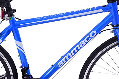 "51G6MkeCaYL - Ammaco VELOCITY JUNIOR 14 SPEED RACING ROAD SPORTS BIKE 24"" WHEEL BLUE AGE 9+"
