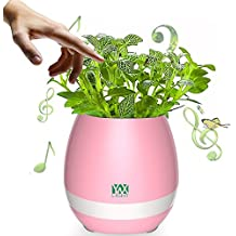 XUJW-LED, Smart Touch Sensores LED Night Light LED Música Bluetooth Flower Pot Jarrón de flores Luz Play Piano Decoración Orador ( Color : Pink )