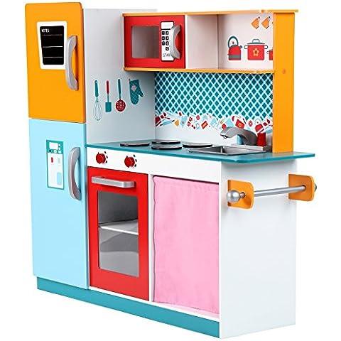 Infantastic® - Cocina de juguete con frigorífico, horno y microondas
