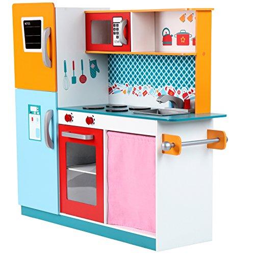 Infantastic Cucina gioco giocattolo per bambini bimbi di legno ca. 96/100/31 cm