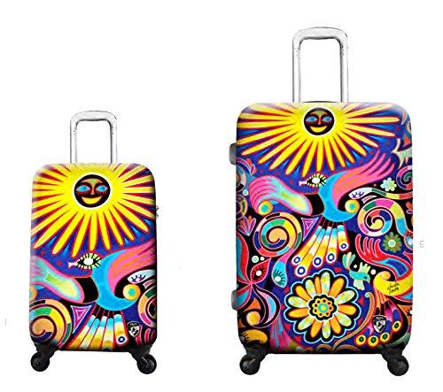 Sets de Bagages, valises - Première Classe Valise Rigide Set 2 pièces - Heys Artistes Limon Under The Sun Bagages à Main + Trolley avec 4 Roues Grand