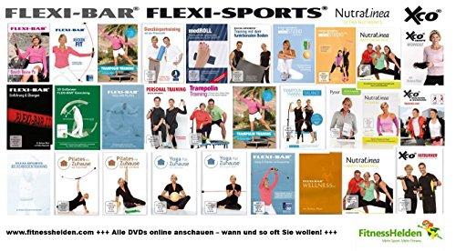 FLEXI-BAR DVDs ONLINE anschauen auf fitnesshelden.com - Alle FLEXI-BAR, XCO und NutraLinea DVDs 1 Monat ONLINE anschauen!