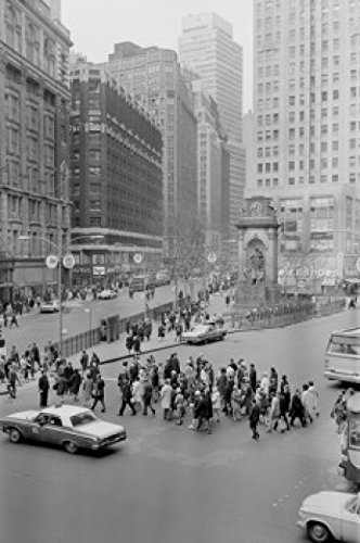 USA New York City Herald Square Street Scene Poster Drucken (60,96 x 91,44 cm)