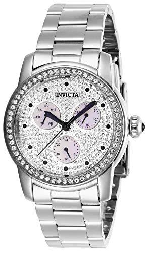 Invicta 28466 Angel Women's Wrist Watch stainless steel Quartz Silver Dial