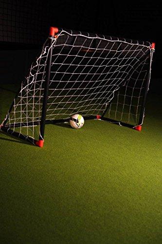 Netsportique OFFERTA IMPERDIBILE! MINI PORTA da calcio FUN per BAMBINI nera e rossa - 1,8 x 1,2 m - RESISTENTE fuori tutto l'anno, SICURA e con GARANZIA!