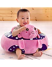PWI Cotton Toddlers' Training Seat Baby Safety Sofa Dining Chair Learn to Sit Stool(Pink)(3-9months)