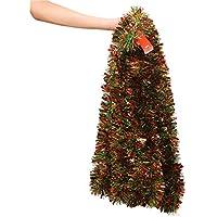 VEYLIN 10 Meter Xmas Tinsel Mixed Colors Tinsel Garland for Christmas tree Decoration