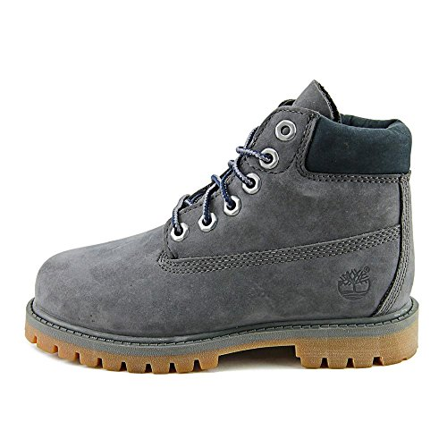 Timberland 6 Inch Premium Waterproof Toddler s Boots Dark Grey Nubuck tb0a1bbz