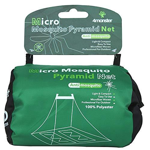 Zag Commerce Moskitonetz, Einzel- und Doppelgröße, hängende Pyramidenform, für drinnen und draußen, kompakt und leicht - Double
