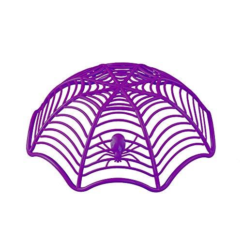 Steellwingsf Kreative Spider Web Keks Früchte Candy Platte Korb Schüssel Halloween Party Dekor - lila