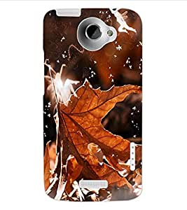 ColourCraft Beautiful Leaf Design Back Case Cover for HTC ONE X