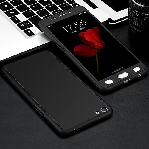 360 Degree Full Body Protection Front & Back Case Cover (iPaky Style) with Tempered Glass for Oppo F1S