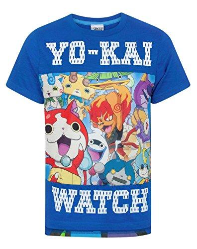 Yo-Kai Watch - Camiseta de Manga Corta - Manga Corta - para niño Azul 9-10 Años