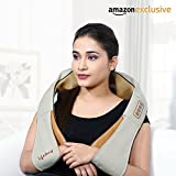 #9: Lifelong LLM63 Electric Neck, Shoulder and Back Massager with heat kneading nodes for pain and stress relief, Multifunctional with Adjustable Speed, Electric/Car Charging Mode (Brown )