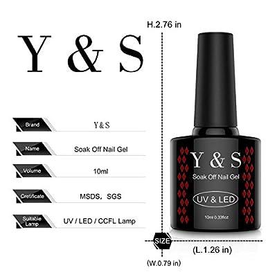 Y&S Gel Nail Polish UV LED Colour Set 6 Bottles Soak Off Gel Polish Kit Nail Art Manicure Home Use 10ml each