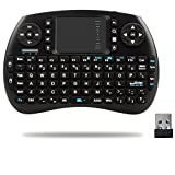 HORIZONTAL Mini 2.4Ghz Touchpad teclado inalámbrico con ratón para Google Android Tv Box, Pc, Pad, Xbox 360, PS3, Htpc, Iptv (Negro)