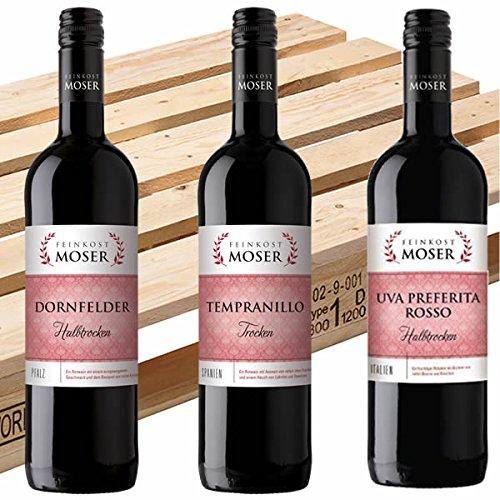 Rotwein Palette Feinkost Moser trocken u. halbtrocken 600x0,75l - FREI HAUS