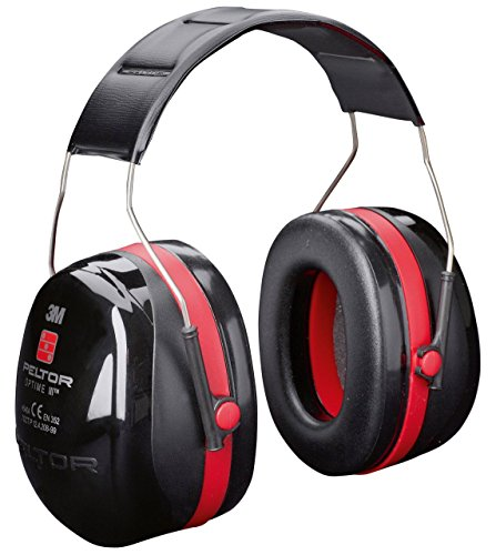 OPTIME III EAR PROTECTORS, HEADBAND --- Ear Protection Type:Muff --- Real Ear Attenuation:35dB --- Standard Deviation:35dB --- Colour:Red & Black